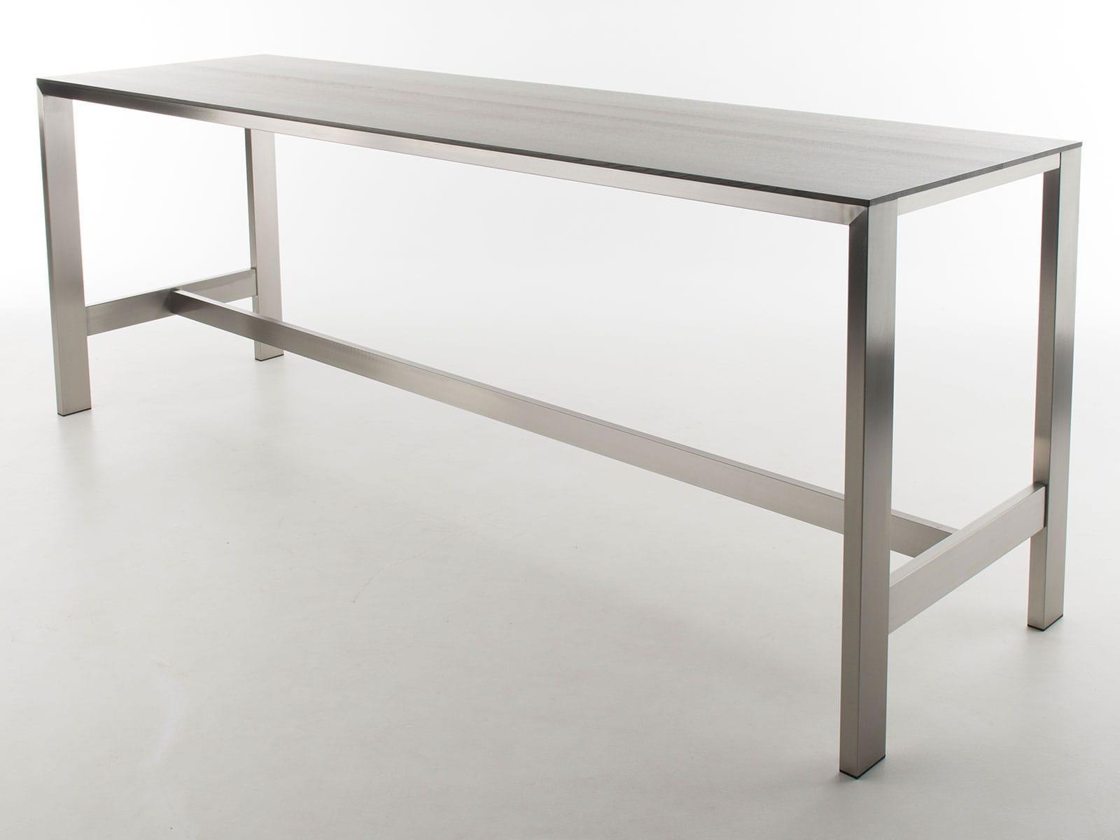 Bert Plantagie Tische Edge Bartisch mit Holzplatte