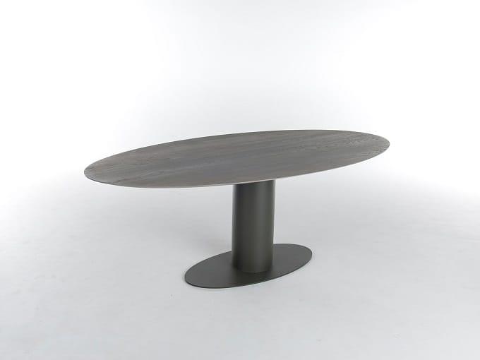Bert Plantagie Tische Oval Tisch ohne Ausziehfunktion ovale Form mit Holzplatte