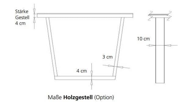 Bert Plantagie Tische Blend Tisch mit Dektonplatte