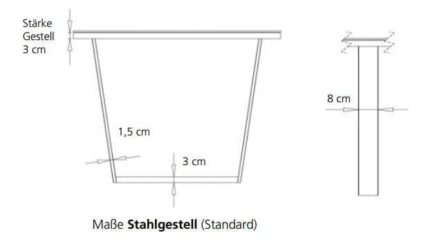 Bert Plantagie Tische Blend Tisch mit Fenixplatte