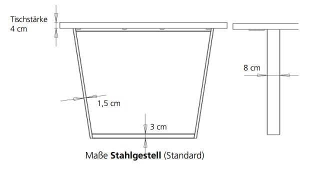 Bert Plantagie Tische Blend Tisch mit Holzplatte