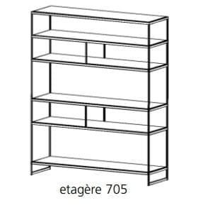 Bert Plantagie Schrankmöbel Luna Etagere freistehend 705
