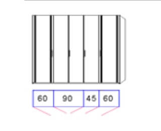 Disselkamp Comfort Twin Kleiderschranksystem 2 Drehtürenschrank 5-türig