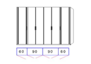 Disselkamp Comfort Twin Kleiderschranksystem 2 Drehtürenschrank 6-türig