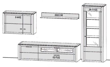 Gwinner Solid Wandkombinationen SL204-SV