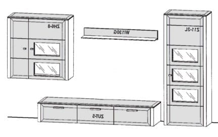Gwinner Solid Wandkombinationen SL31-SV