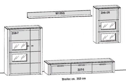 Gwinner Solid Wandkombinationen SL33-SV