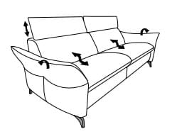 Himolla Planopoly Motion 1926 Sofas