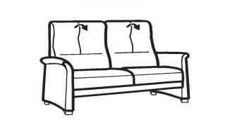 Himolla Select 6001 2 1/2-Sitzer