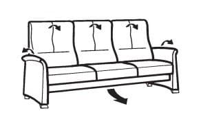 Himolla Select 6001 3-Sitzer