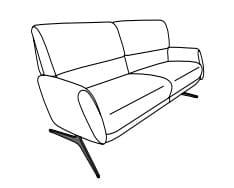 Himolla Tangram Sofa 9805 2-Sitzer