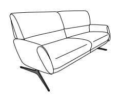 Himolla Tangram Sofa 9805 2 1/2-Sitzer