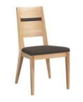 Klose Stühle / Sessel S23 Stühle Schaumstoffpolsterung im Sitz, Holzrücken mit Applikation