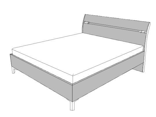 Loddenkemper Schlafzimmer Solo Nova Betten und Beimöbel