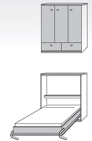 Nehl Schrankbetten Armadi Komfort-Raumsparbett 1440