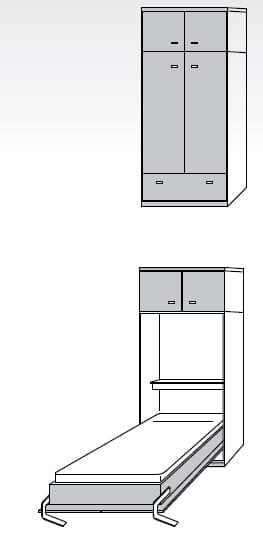 Nehl Schrankbetten Armadi Komfort-Raumsparbett 2400