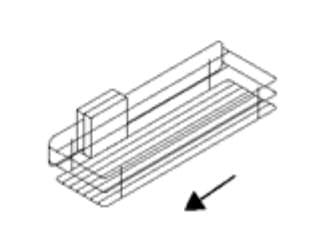 Nolte Germersheim Zubehör Zubehör Drehtürenschränke für Schrägelemente mit 46 cm Breite und 60 cm Tiefe Utensilienkorb