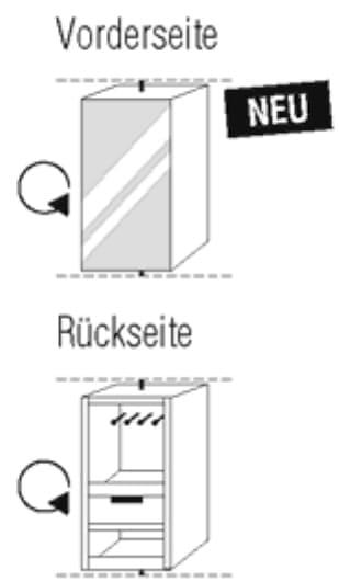 Nolte Germersheim Zubehör Zubehör Drehtürenschränke für Schrankelemente mit 50 cm Breite und 60 cm Tiefe