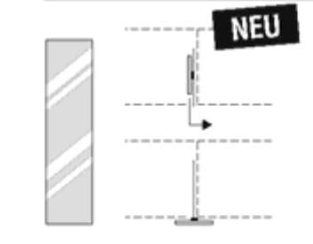 Nolte Germersheim Zubehör Zubehör Drehtürenschränke für Schrägelemente mit 46 cm Breite und 60 cm Tiefe Kristallspiegel