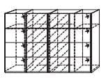 Rauch ORANGE Beluga Extra Schwebetürenschränke Variante F - Ausführung Vertikal