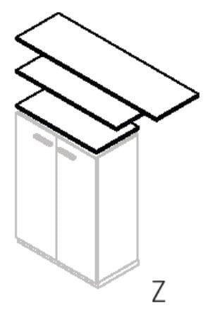 Röhr Büro quantum Lowboards und Oberböden