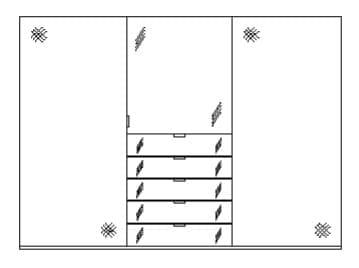 Staud Kleiderschrank Media zweifarbig mit Grauspiegel 09674