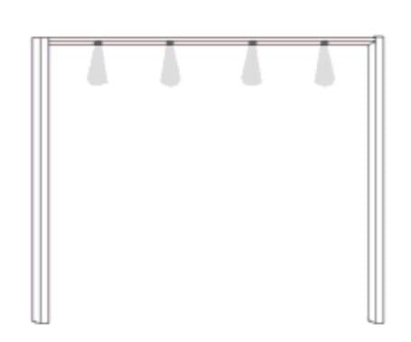 Wiemann Schlafzimmer Donna 2 Zubehör für Drehtürenschränke Passepartout-Rahmen für Schrankbreite 250cm
