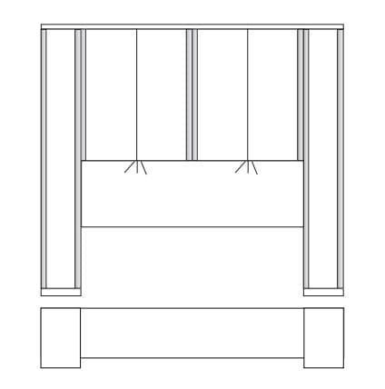Wiemann Schlafzimmer Luxor 3+4 Bettbrücken-Kombinationen
