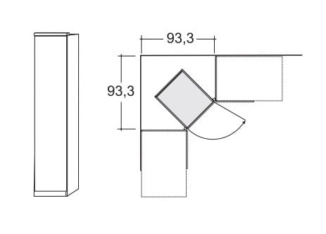 Wiemann Schlafzimmer Luxor 3+4 Eckschränke