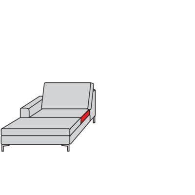 Willi Schillig Sofas 22850 - aleXx Longchair K70L
