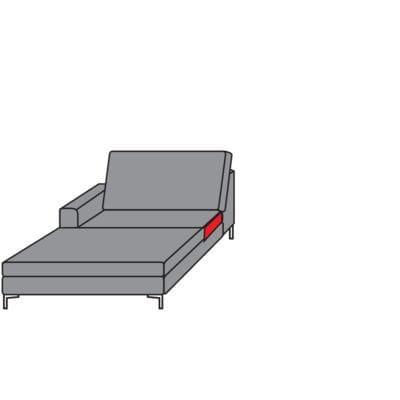 Willi Schillig Sofas 22850 - aleXx Longchair KC90L