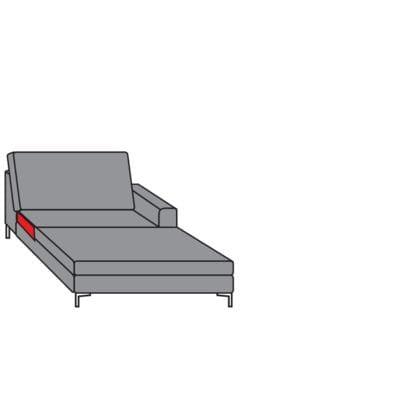 Willi Schillig Sofas 22850 - aleXx Longchair KC90R