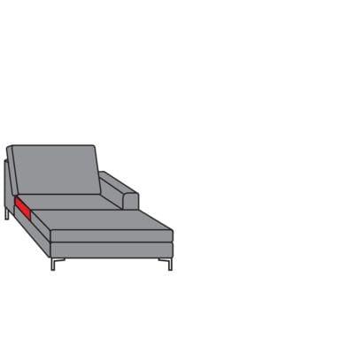 Willi Schillig Sofas 22850 - aleXx Longchair KH70R