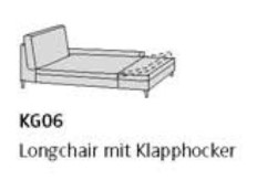 Willi Schillig Sofas 29858 - loop KG 06 re