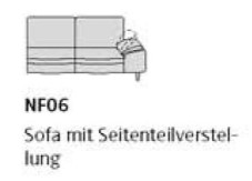 Willi Schillig Sofas 29858 - loop NF 06 re