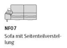 Willi Schillig Sofas 29858 - loop NF 07 li