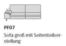 Willi Schillig Sofas 29858 - loop PF 07 li
