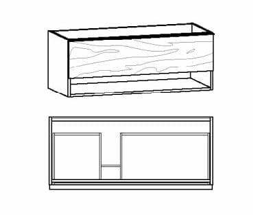 Voglauer Bad V-Alpin Waschtischunterschränke, asymmetrisch