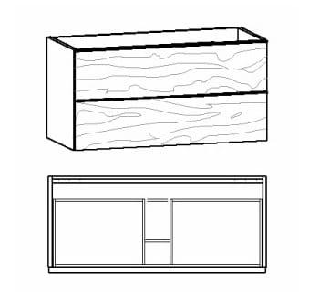 Voglauer Bad V-Alpin Waschtischunterschränke, symmetrisch