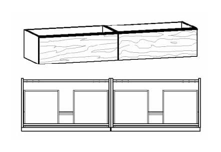 Voglauer Bad V-Alpin Doppelwaschtischunterschränke