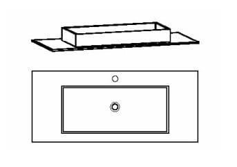 Voglauer Bad V-Alpin Waschtische, symmetrisch