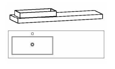 Voglauer Bad V-Alpin Waschtische, asymmetrisch