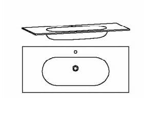 Voglauer Bad V-Montana Waschtische, symmetrisch