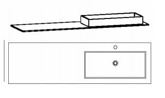 Voglauer Bad V-Montana Waschtische, asymmetrisch