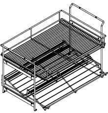 Wellemöbel Schlafzimmer Chiraz Auszugskorb und Schuhablage