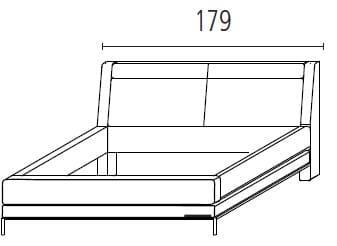 Wellemöbel Schlafzimmer Chiraz Polsterbett mit Kopfteilverstellung