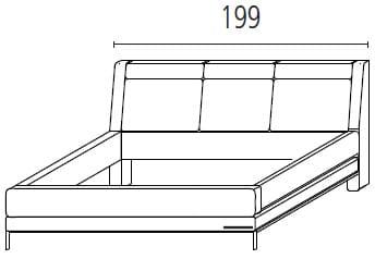 Wellemöbel Schlafzimmer Chiraz Polsterbett mit Mittelfunktion und Kopfteilverstellung