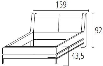 Wellemöbel Schlafzimmer Chiraz Polsterbett ohne Funktion