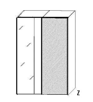 Wellemöbel Jugendzimmer Concrete Schwebetürenschränke