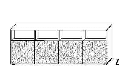 Wellemöbel Jugendzimmer Concrete Raumteilendes Sideboard